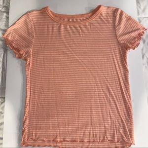 Stripped Lettuce Edge T-Shirt: Small, So Brand